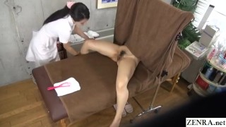 Lesbian massage JAV breast and inner thigh course Subtitles